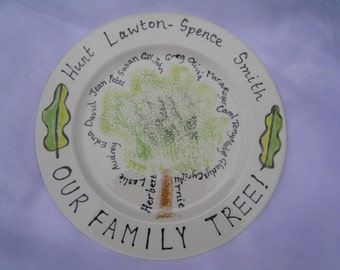 Family Tree Plate, a family heirloom for you to commission.