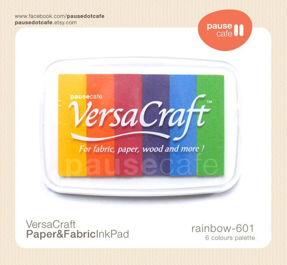VersaCraft Japanese Ink Pad (Rainbow 601) for paper fabric leather wood