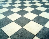Abstract Photography  Chessboard Floor  Black White