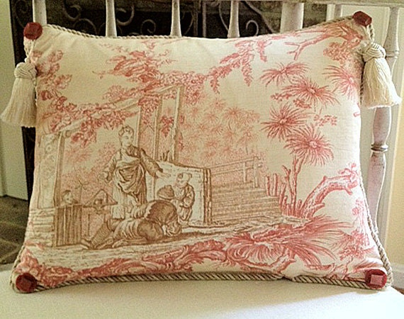 A Classic Asian Toile Pillow
