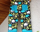 Zoology in Black BABY BOY PANTS for your little rascal:-) Size 3 - 4 years. Will grow with your little boy as having roll up cuffs.
