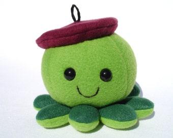Octopus artist stuffed plushie beret hat