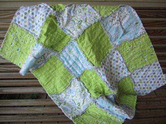 Baby Rag Quilt Blanket Backyard Baby