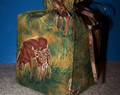 Deer Fabric Tissue Box Cover