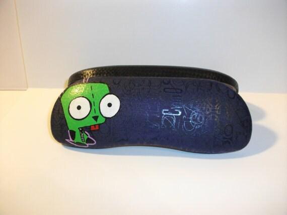 Gir...Invader Zim Eyeglass Case Hand-Painted Fan Art
