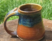 Stoneware MUG with Rutile and Brown Glaze