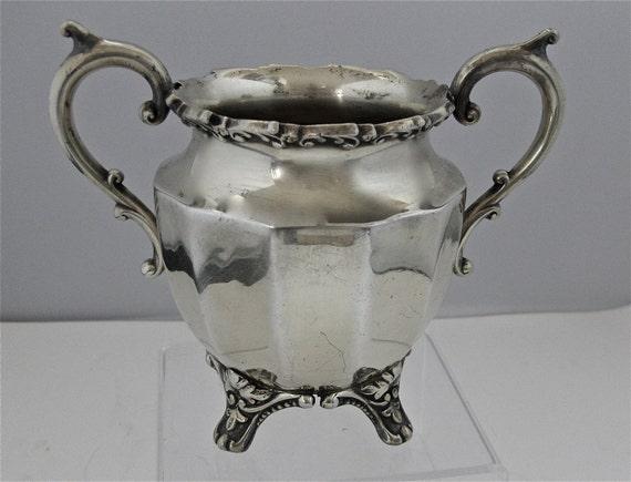 Benedict Silverplate Waste or Sugar Bowl