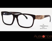 FREE SHIPPING. Eyewear handmade custom eyeglasses with buffalo horn and exotic wood 2012