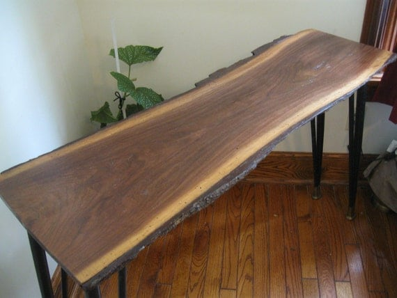 Black Walnut Beauty.. Jess Handmade with VINTAGE HAIRPIN LEGS- Wedding or Home on Sale Save 200.00 was 750.00