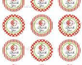 Thank you Teacher - Teacher Appreciation Week- Teacher Gift - Cupcake Toppers - GIft Tags - printable file