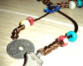 HORSE'S AMULET - Handmade - Order your colors - With Polymer Clay Beads and plastic Cross