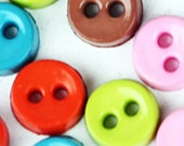 A-005  /  Tiny buttons / size : 6.5 mm. / 100 pcs (Come with box) / mixed colors