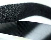 E-006  / Thin Velcro / size : 1.5cm.  X 270 cm. ( 3 yards ) / Color - Black