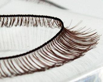 G-002  / Doll Eyelashes / 8 mm X 200 mm /  Dark Brown