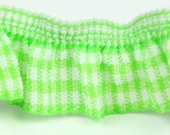 B-023  / 1 yard of  elastic Lace / Color : Light Green