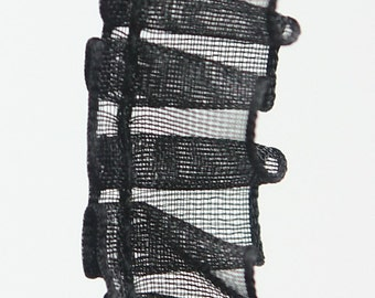 B-048  / 1 yard of  Lace / Color : Black