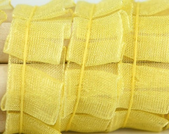 B-051  / 1 yard of  Lace / Color : Yellow
