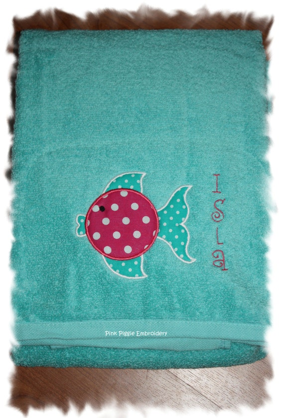 Personalized Child's Terry Quick Dry 30x60 Bath or Beach Towel