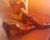 SALE 50% OFF  Vintage Brown Givenchy Leather and Suede Heels