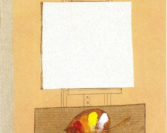 New Yorker cover by Eugene Mihaesco has artist using leaf as palette 10/26/87 Ready to frame
