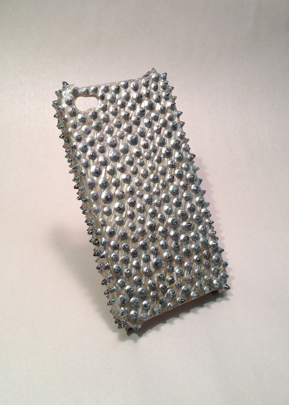 Silver Spikes iPhone 4&4S Case