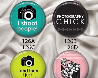 "Love Photography - Interchangeable Magnetic Design Inserts -  FIT Clique and Magnabilities 1"" Pendant Jewelry Bases...126"
