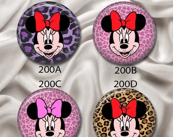 "Minnie Mouse - Interchangeable Magnetic Design Inserts - FIT Clique and Magnabilities 1"" Jewelry Bases...200"