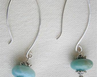 Silver Sea Earrings