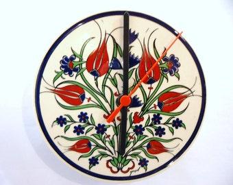 Tulip, Wall Clock, Ceramic,