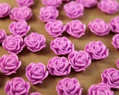 SALE - 20 pc. Lilac Ruffle Rose Cabochons 13mm x 11mm | RES-223
