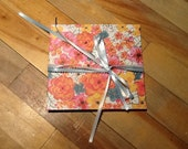 FREE SHIPPING- Accordion book- Flower power