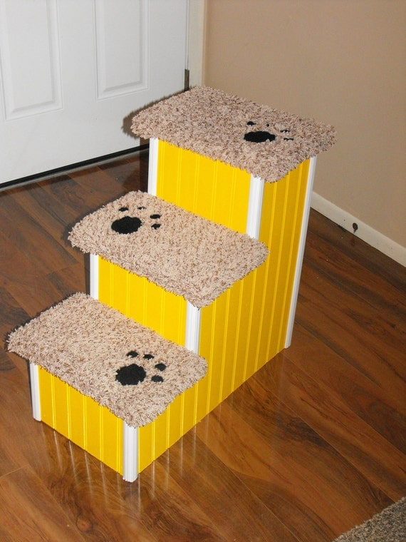 24 Inch High 3 Tier Dog Steps For Sale By Hamptonbaypetsteps