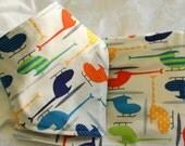 Helocopter Bandana Bib and Burp Cloth Gift Set - Made with all natural organic cotton