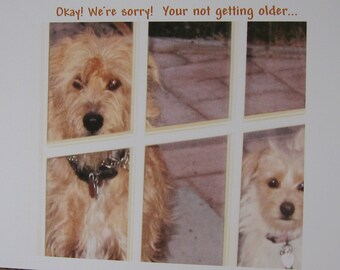 "Retro Birthday Card-""Getting Older""-Spencer and Cleo"