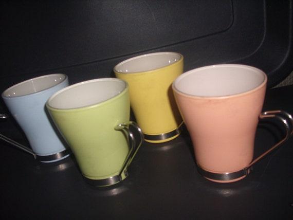 Retro Italian bistro cup set