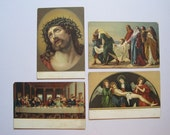 Set of Four Old and Beautiful Jesus Christ Postcards