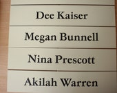 """Office or Cubicle Wall Name Plates - 2"""" x 10"""""""