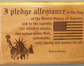 """Pledge Plaque - 5"""" x 7"""""""