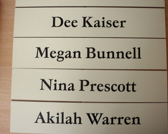 "Office or Cubicle Wall Name Plates - 2"" x 10"""