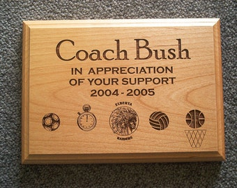 "COACH Plaque - 5"" x 7"""