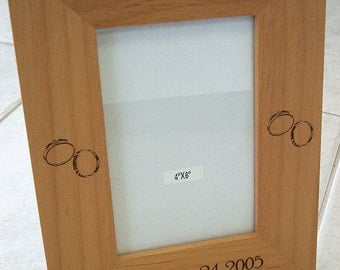 "Wedding Picture Frame - Holds 4"" x 6"" Photo"