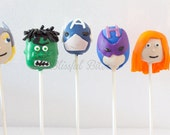 Custom Design Cake Pops- Captain America, Monster High, Mickey Mouse, Hello Kitty-Made to Order 3 dozen