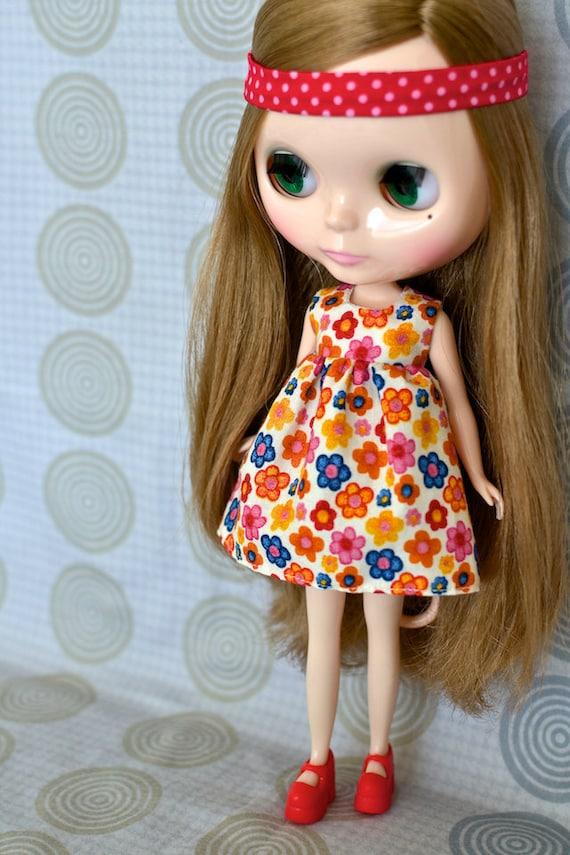 Tangerine Floral Dress for Blythe