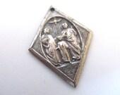Holy Family Catholic Medal c. 1940's