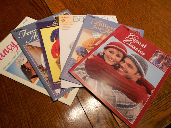 Lot of 5 Knitting Pattern Books - Great Library for Knitting