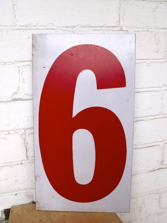 Industrial Metal Number Six and Number Seven Sign