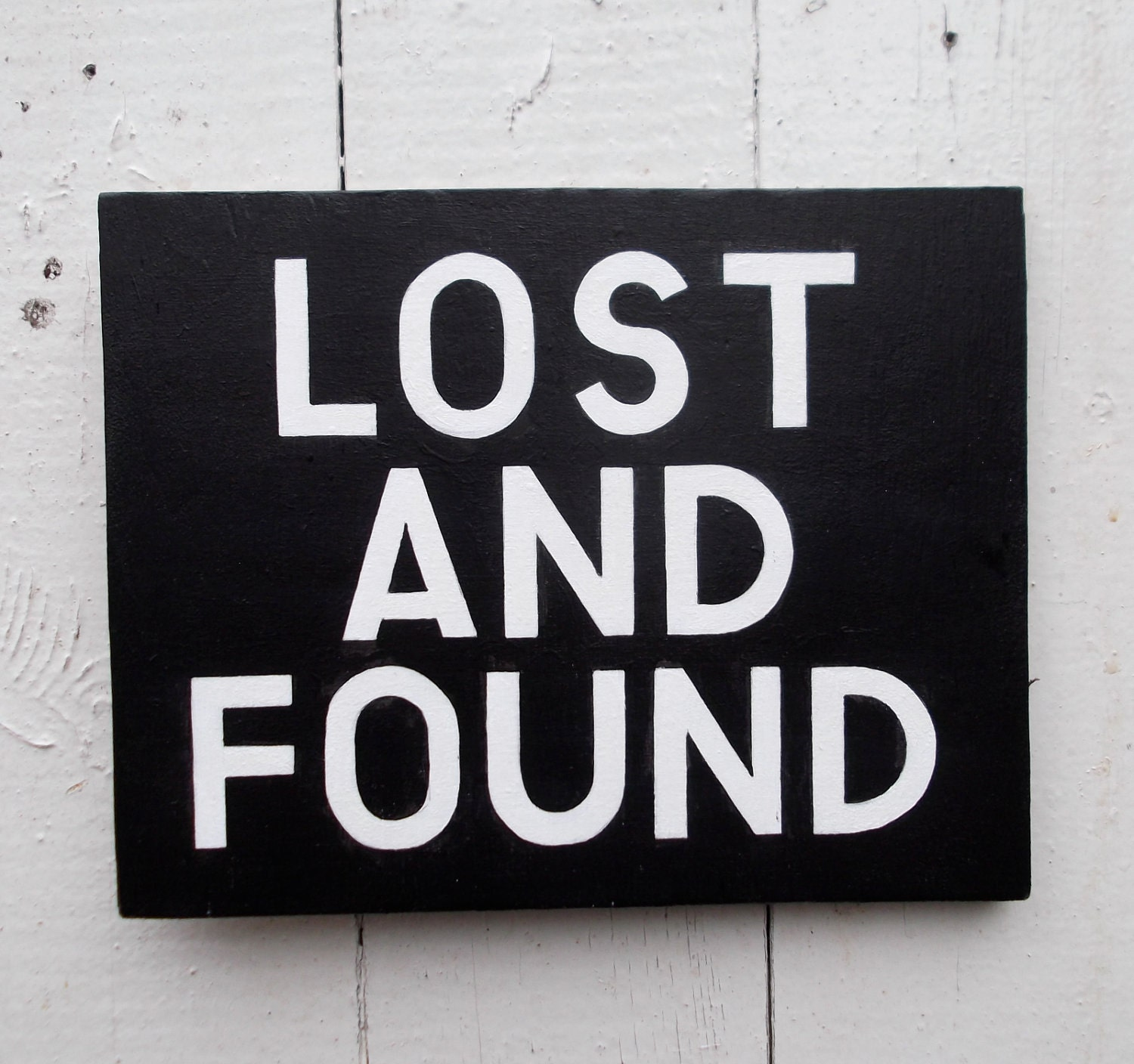 Printable Home Decor Lost And Found Hand Painted Sign On Wood