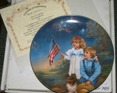 Vintage 1985 Sandra Kuck Porcelain Plate Star Spangeled Banner 8th Edition