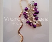 """Beaded Bookmark """"Love To Read"""" Antique silver plating finish"""