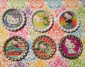 Hello Kitty Inspired finished bottlecaps 6